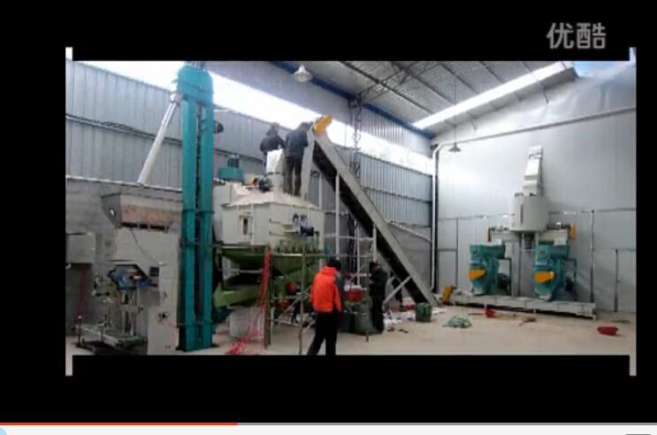 浙江某木屑干料两台机生产线